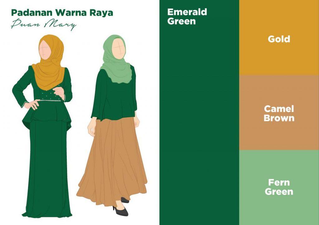 10 Padanan Warna Paling Serasi Untuk Hijabi Agar Tak Silap Pilih