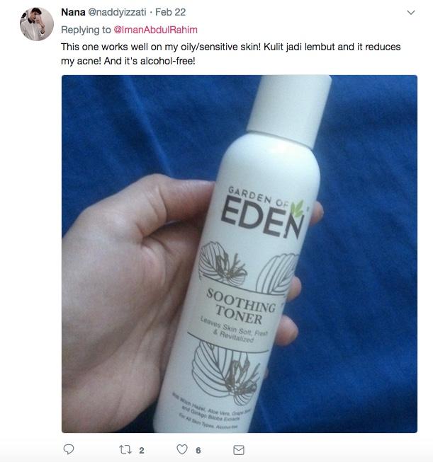 Netizen juga berkongsi penggunaan produk lain yang juga bebas alkohol. 0e829a93b4