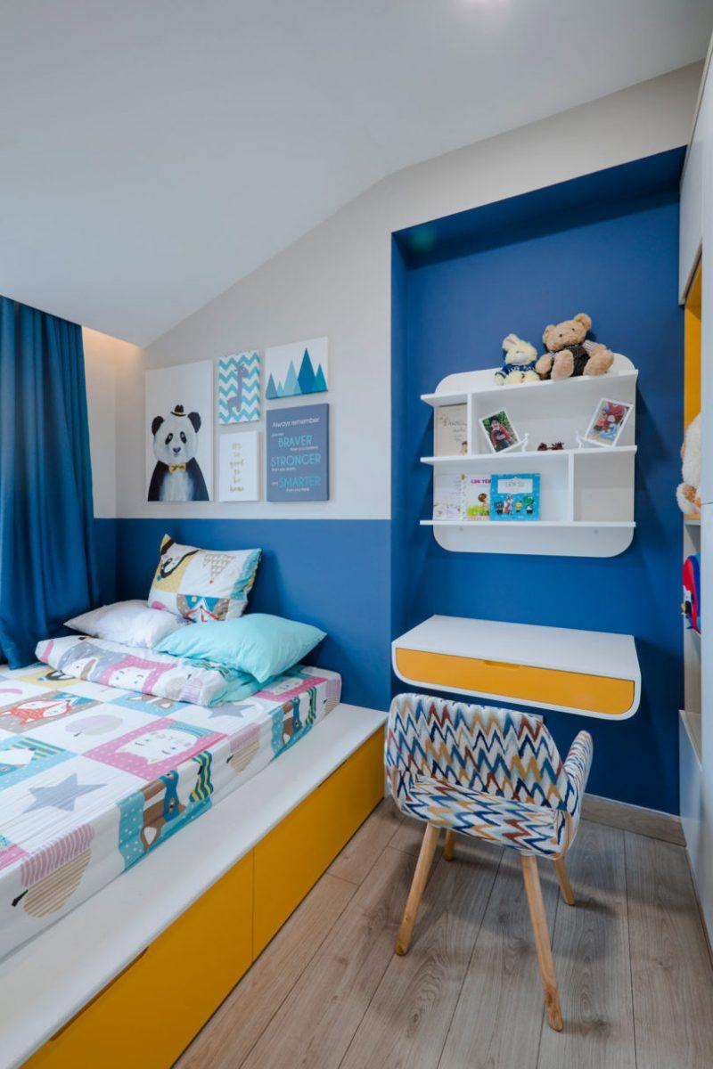 Rumah Sempit 646 sqft Tetap Nampak Luas Dengan Pilihan Warna Vibrasi 15