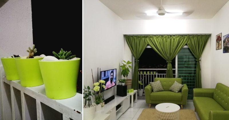 Dekor Modal Rendah Dan Sederhana Dalam Rumah Dengan Tona Hijau Putih