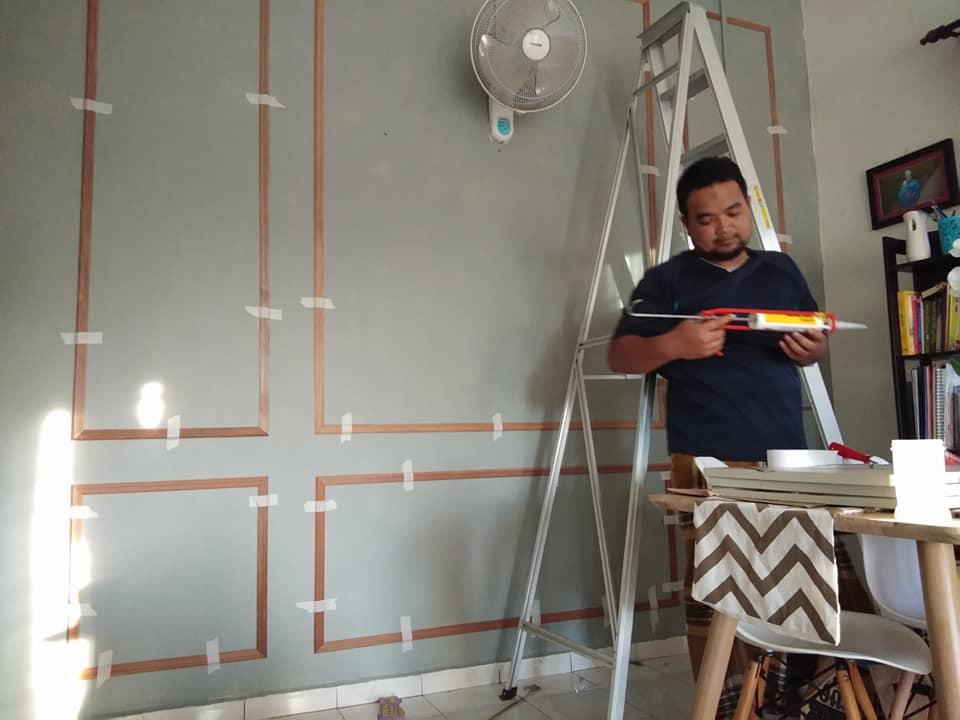 DIY Waiscoting Dengan Bajet Bawah RM200 6