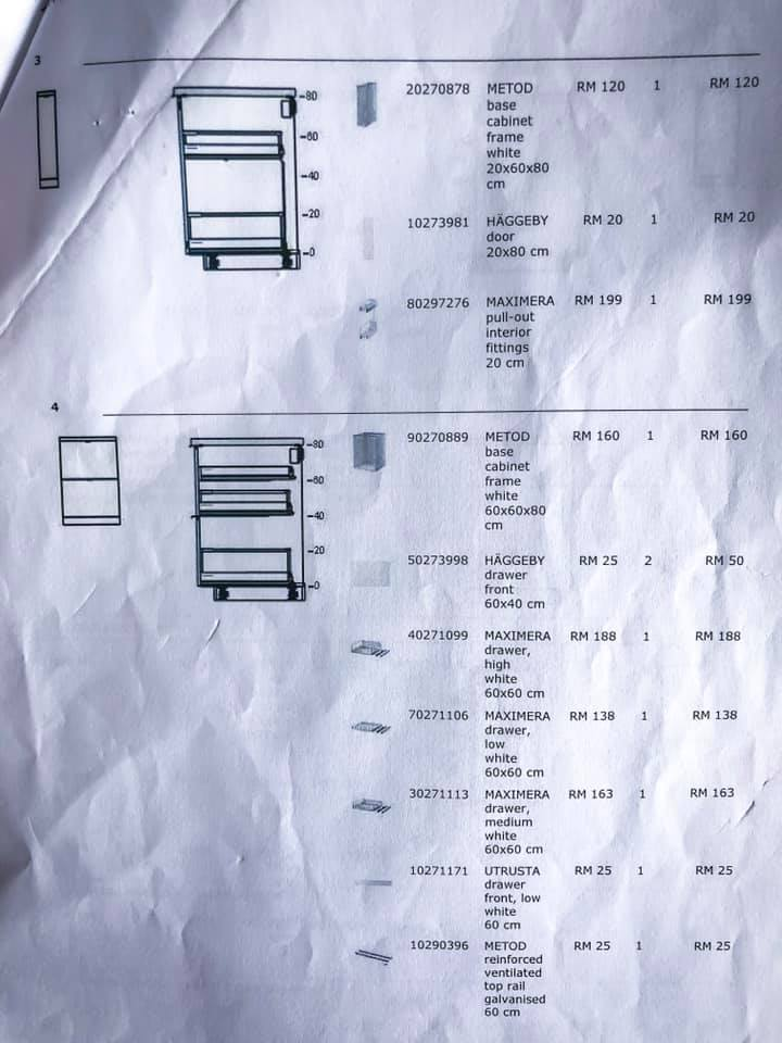 Makeover Sendiri Dapur Sempit 7 Kaki Modal RM 2,746.60 21
