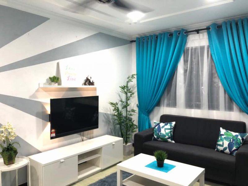 Hanya Guna Cat Hasilkan Corak Geometri Di Dinding, Lihat Transformasi Rumah Flat PKNS Ini! 10