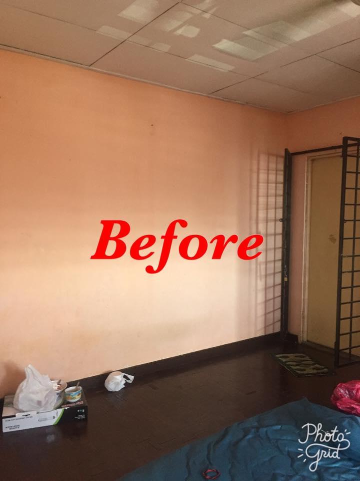 Hanya Guna Cat Hasilkan Corak Geometri Di Dinding, Lihat Transformasi Rumah Flat PKNS Ini! 3