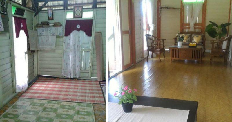 (GAMBAR) Wanita Ini 'Touch Up' Ringkas Saja Tetapi Rumah Kampung 100 Tahun Ini Tetap Nampak Sweet