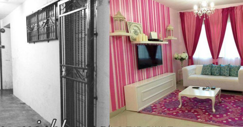(GAMBAR) Tranformasi Rumah Flat 650sqf Menjadi Sebuah Kondo Betu-Betul Cantik
