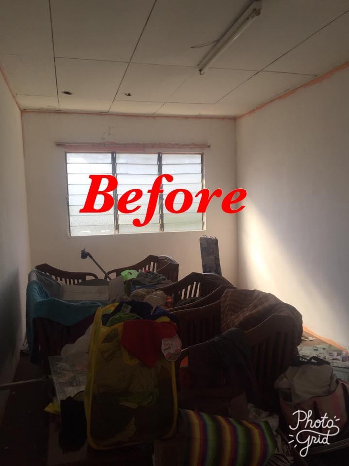 Hanya Guna Cat Hasilkan Corak Geometri Di Dinding, Lihat Transformasi Rumah Flat PKNS Ini! 6