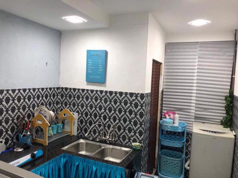 Hanya Guna Cat Hasilkan Corak Geometri Di Dinding, Lihat Transformasi Rumah Flat PKNS Ini! 16