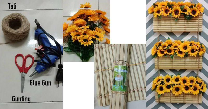 DIY Bunga Gantung Bajet Viral Dari Alas Pinggan Buluh