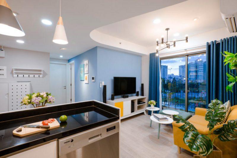 Rumah Sempit 646 sqft Tetap Nampak Luas Dengan Pilihan Warna Vibrasi 4