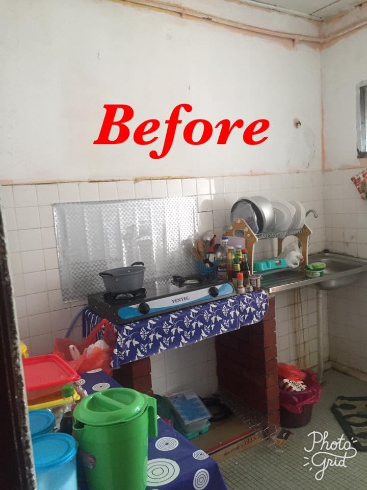 Hanya Guna Cat Hasilkan Corak Geometri Di Dinding, Lihat Transformasi Rumah Flat PKNS Ini! 7