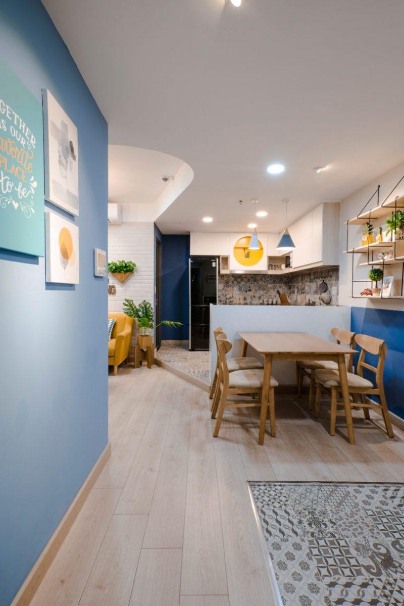 Rumah Sempit 646 sqft Tetap Nampak Luas Dengan Pilihan Warna Vibrasi 8