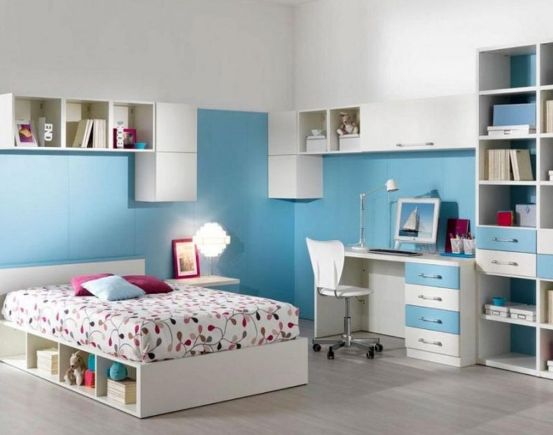 innovative blue white bedroom ideas teenage girls | wonderful-teenage-girl-bedroom-nice-blue-and-white-girls ...