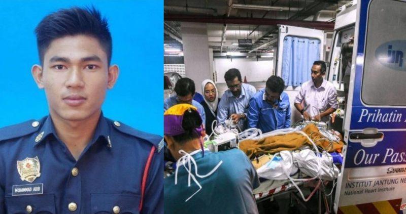 Anggota Bomba Yang Tragis Dipukul Semakin Stabil & Dipindahkan Ke IJN