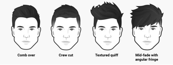 Lelaki yang mempunyai bentuk muka triangle ini lebih sesuai jika mereka  mempunyai kepanjangan rambut yang medium. e40a121594
