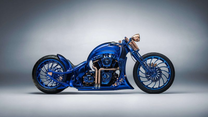 Motosikal Termahal Dunia Harley-Davidson Blue Edition Dihiasi Emas & Berlian, Lebih Mahal Dari Ferrari!