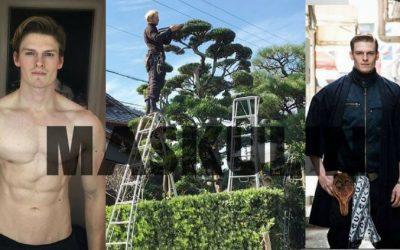 Tinggalkan Karier Model Untuk Jadi Tukang Kebun, Lelaki Kacak & Sado  Ni Jatuh Cinta Dengan Landskap Di Jepun