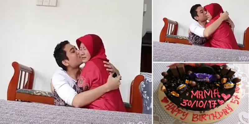 Aksi Anak Usik Ibu Sempena Hari Lahir Tular, Netizen Sebak Lihat Ibu Menangis Peluk Anak
