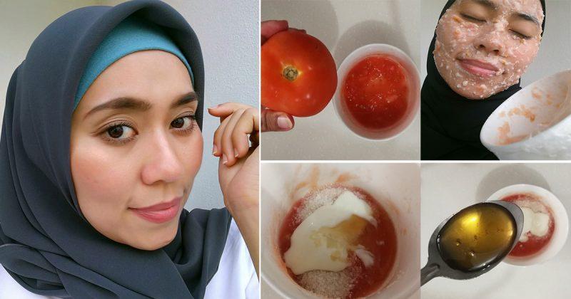 Dapat Hampir 20K Share, Wanita Ini Kongsi Rahsia Kulitnya Cantik Macam Buat Rawatan Di Spa. Caranya Hanya Guna Masker Tomato!