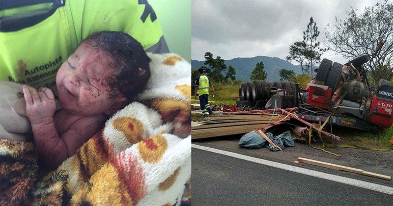 Bayi Terkeluar Dari Rahim Ibu Hamil 39 Minggu Akibat Impak Kemalangan. Ibu Maut, Ajaibnya Bayi Hidup