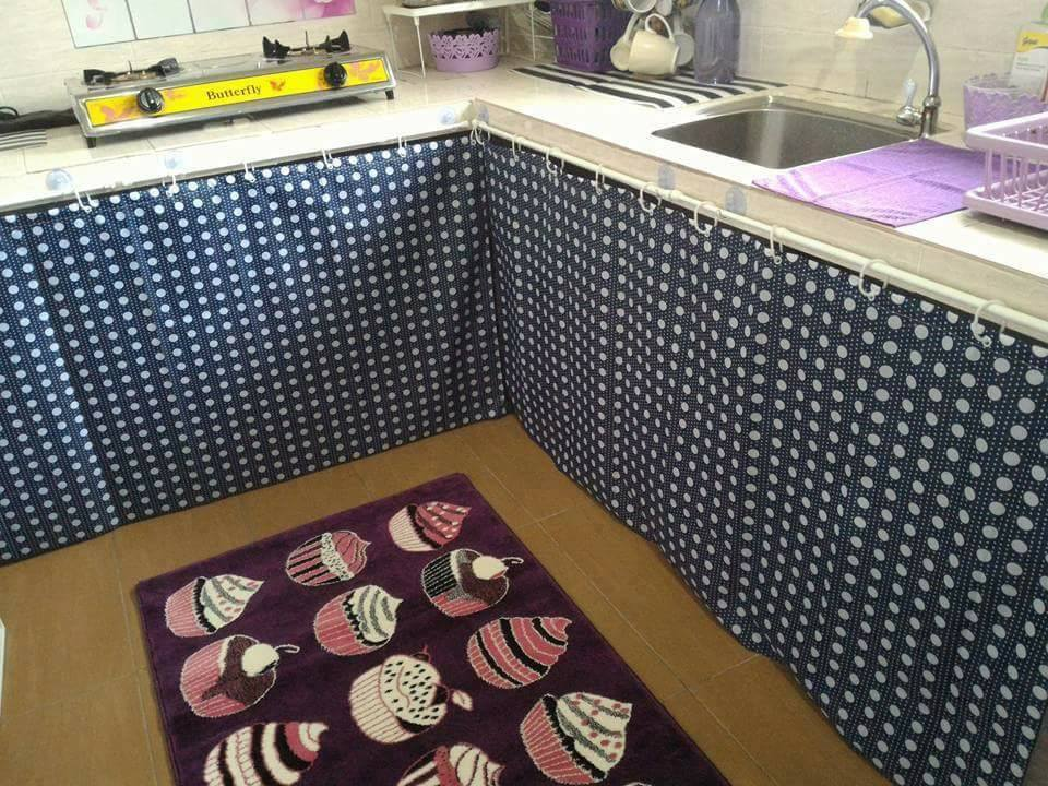 Langsir Diy Tutup Ruang Bawah Sinki Barulah Dapur Nampak Kemas