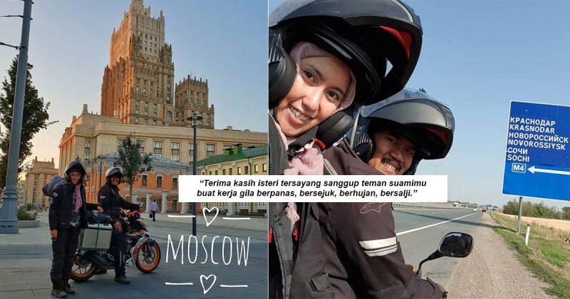 Bermalam Dalam Khemah Tepi Jalan, Makan Ikat Perut Cabaran Teman Suami Naik Kapcai 47 Hari Ke Rusia