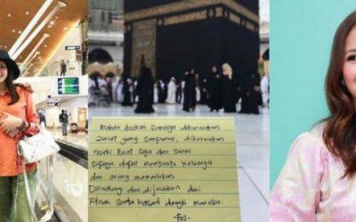 Belum Ada Rezeki Hamil, Fazura Sebak Bila Doanya Tentang Anak Dititip Depan Kaabah
