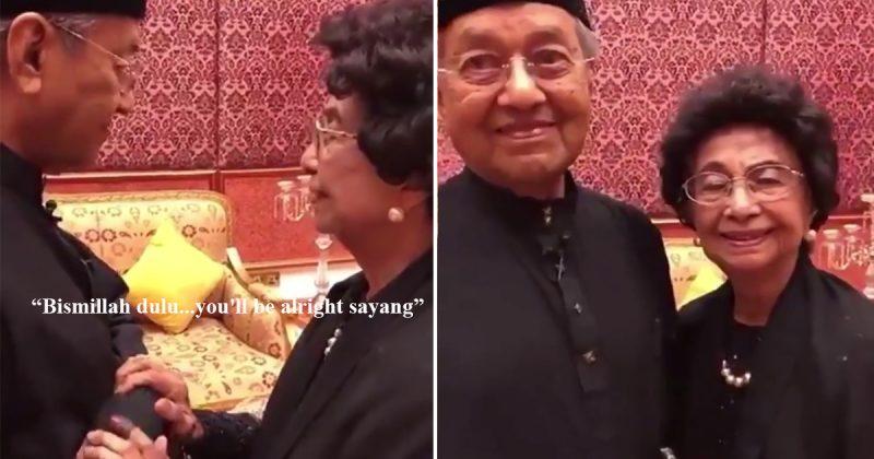 """""""Bismillah…You'll Be Alright Sayang."""" Aksi Manis Tun Dr Siti Hasmah Tenangkan Suami Buat Netizen Sebak. Tapi Ada Juga Yang Lucu…"""