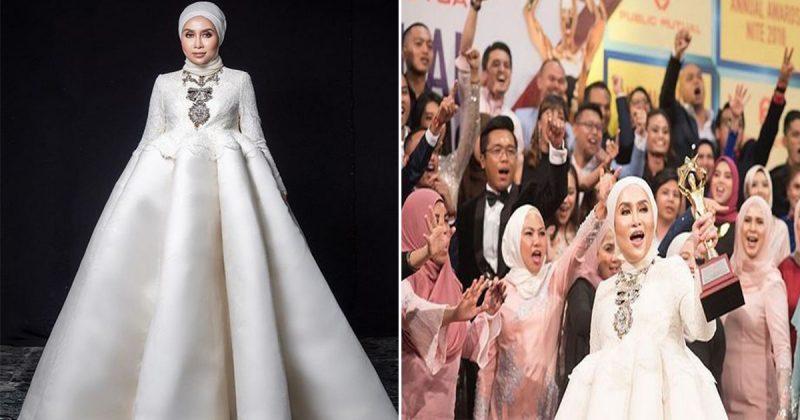 Gaun Unik Curi Tumpuan Tapi Kejayaan Usahawan Wanita Ini Lagi Luar Biasa. Terima Anugerah Tertinggi Kerana Catat Jualan RM 228 Juta!