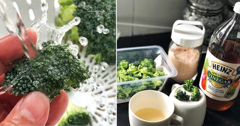Buang Dulu Kesan Putih Pada Sayur Brokoli Sebelum Masak. Guna 3 Bahan Dapur Saja! Baru Rasa Selamat Untuk Makan
