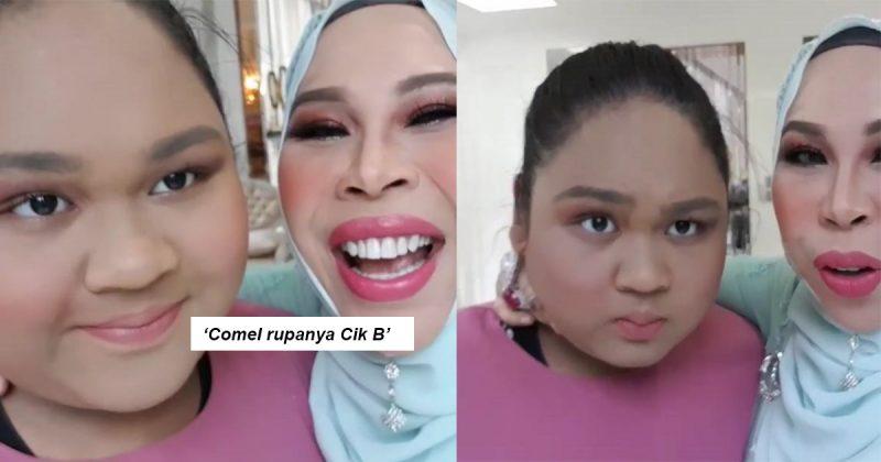 'Comel Rupanya Dia!' Netizen Teruja Lihat Cik B Mekap, Sampai Lebih Sejuta Tonton Video Datuk Seri Vida!