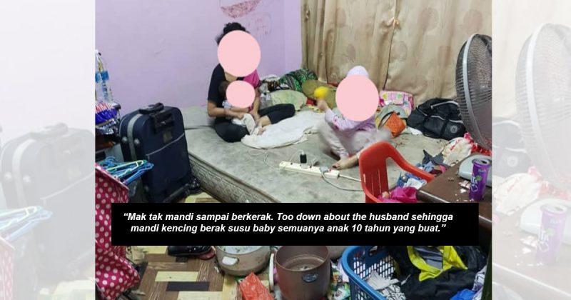 Anak Umur 10 Tahun Ambil Alih Jaga Bayi Baru Lahir Bila Mak Meroyan Akibat Ditinggal Suami Sebaik Bersalin
