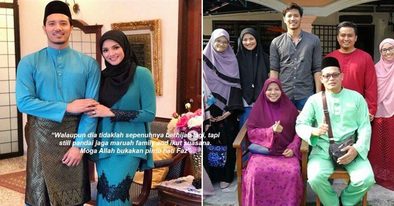 Pandai Sesuaikan Diri & Hormat Keluarga Mentua, Kesederhanaan Fazura Beraya Bersama Famili Fattah Dipuji Netizen