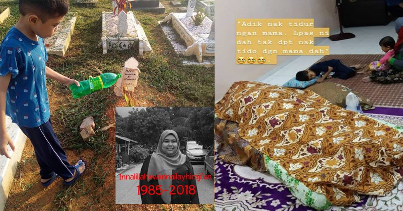 Foto Anak Tidur Tepi Jenazah Ibu & Adik Raih Simpati Netizen, Sebak Bila Bapa Saudara Cerita Kisah Sebenar
