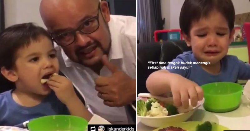 'Budak Pemakan Sayur!' Aksi Anak Harith Iskander Menangis Enggan Kongsi Sayur Dengan Abang Cuit Hati, Ramai Mak Kagum!
