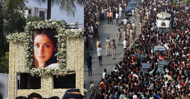 'Perjalanan' Terakhir Sridevi Diiringi Kesedihan Ribuan Peminat & Pelakon Bollywood