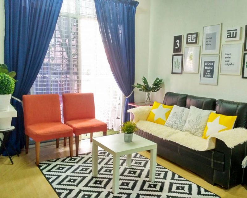 gambar hias rumah sewa flat 805 sqf dengan perabot hotel