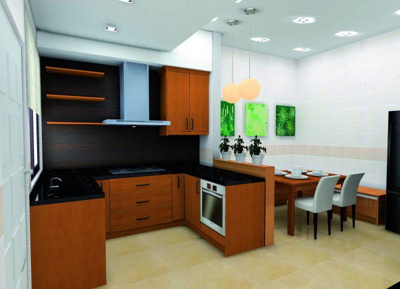 Kabinet  Dapur Rumah Flat Ppr Kreasi Rumah