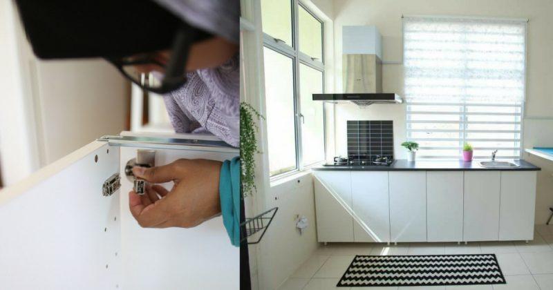 Gambar Wanita Ini Tunjuk Cara Untuk Bina Kabinet Dapur Dengan Modal
