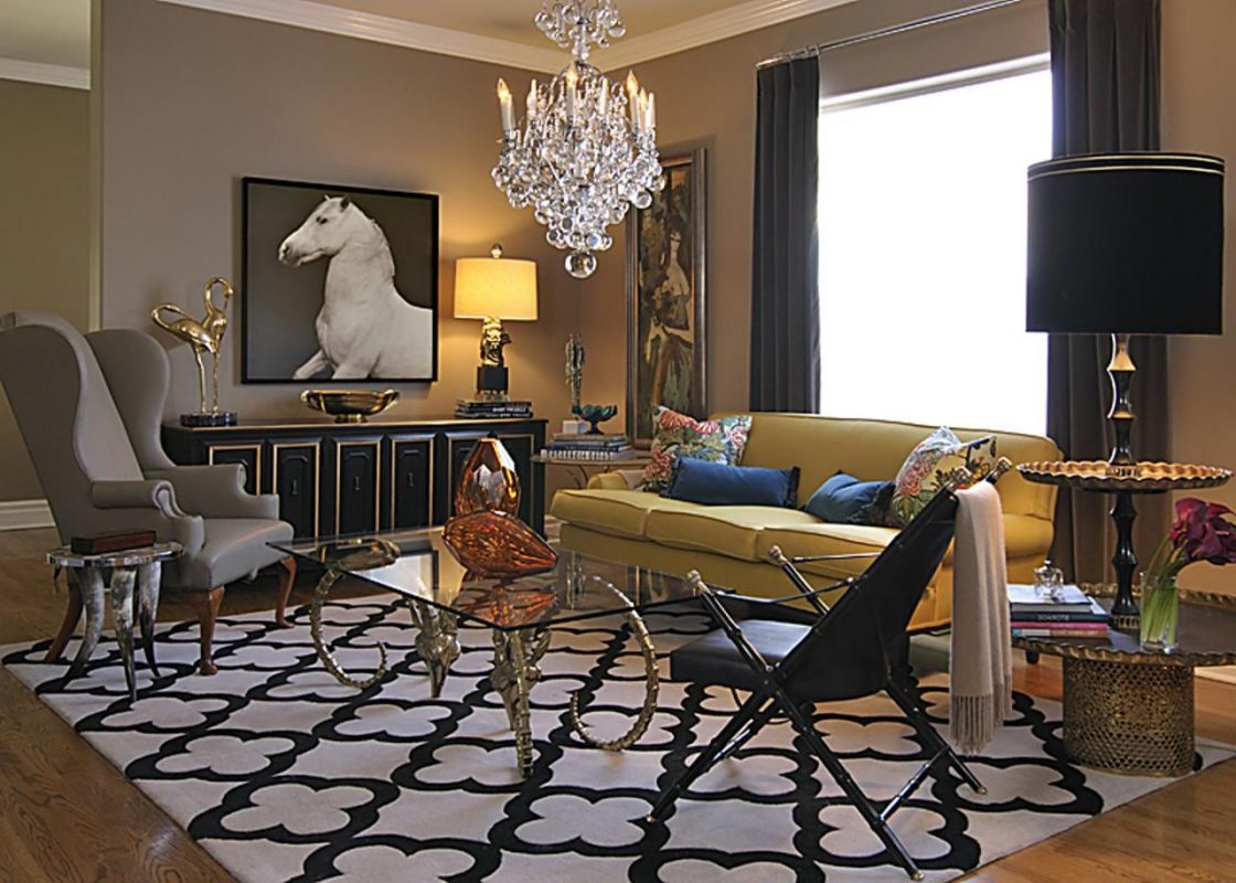 Amazing-vintage-living-room-decor-with-black-and-white